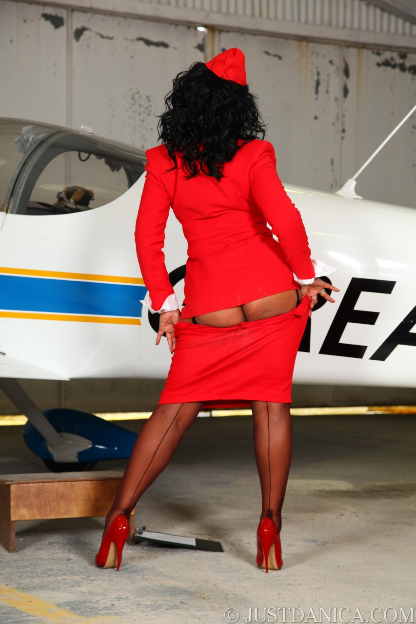 Pantyhose air hostess